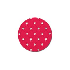 Red Diamond Bling  4 Pack Golf Ball Marker