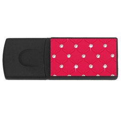 Red Diamond Bling  2Gb USB Flash Drive (Rectangle)