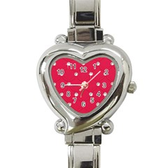 Red Diamond Bling  Classic Elegant Ladies Watch (heart)