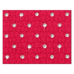 Red Diamond Bling  Jigsaw Puzzle (rectangle)