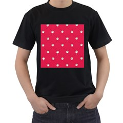 Red Diamond Bling  Twin-sided Black Mens'' T-shirt