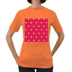 Red Diamond Bling  Dark Colored Womens'' T Shirt