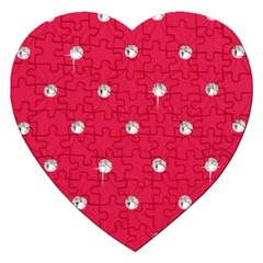 Red Diamond Bling  Jigsaw Puzzle (Heart)