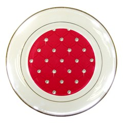 Red Diamond Bling  Porcelain Display Plate