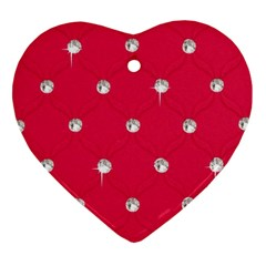 Red Diamond Bling  Heart Ornament (two Sides)
