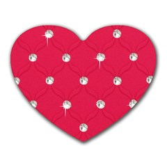 Red Diamond Bling  Mouse Pad (heart)