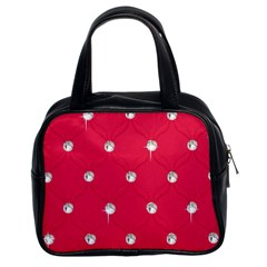 Red Diamond Bling  Twin Sided Satched Handbag