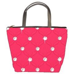 Red Diamond Bling  Bucket Handbag