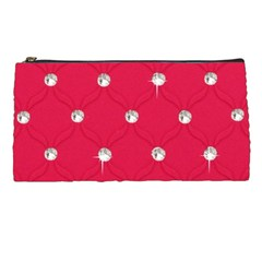 Red Diamond Bling  Pencil Case