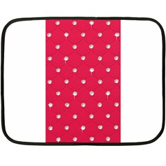 Red Diamond Bling  Twin-sided Mini Fleece Blanket