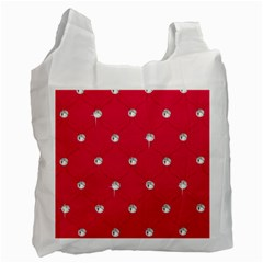 Red Diamond Bling  Twin Sided Reusable Shopping Bag