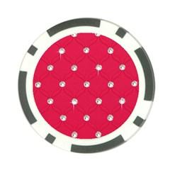 Red Diamond Bling  10 Pack Poker Chip