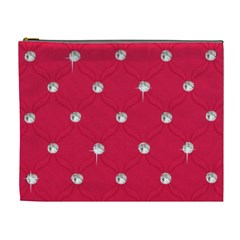 Red Diamond Bling  Extra Large Makeup Purse