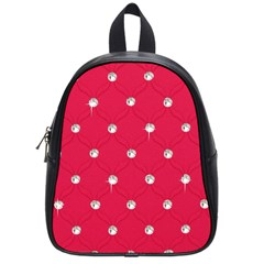 Red Diamond Bling  Small School Backpack