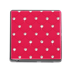Red Diamond Bling  Card Reader With Storage (square)