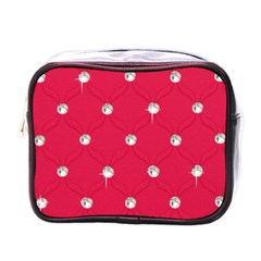 Red Diamond Bling  Single Sided Cosmetic Case