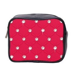 Red Diamond Bling  Twin-sided Cosmetic Case