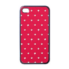 Red Diamond Bling  Black Apple Iphone 4 Case