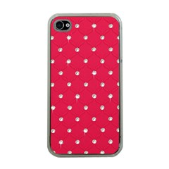 Red Diamond Bling  Apple Iphone 4 Case (clear)