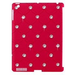 Red Diamond Bling  Apple Ipad 3/4 Hardshell Case (compatible With Smart Cover)