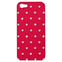 Red Diamond Bling  Apple Iphone 5 Hardshell Case