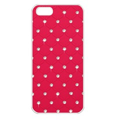 Red Diamond Bling  Apple iPhone 5 Seamless Case (White)