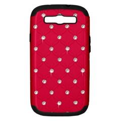 Red Diamond Bling  Samsung Galaxy S III Hardshell Case (PC+Silicone)