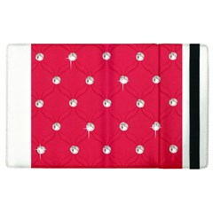 Red Diamond Bling  Apple iPad 2 Flip Case