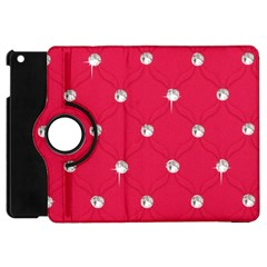 Red Diamond Bling  Apple iPad Mini Flip 360 Case