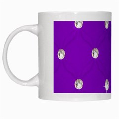 Royal Purple Sparkle Bling White Coffee Mug