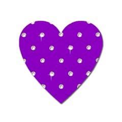 Royal Purple Sparkle Bling Large Sticker Magnet (Heart)