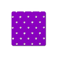 Royal Purple Sparkle Bling Large Sticker Magnet (Square)
