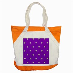 Royal Purple Sparkle Bling Snap Tote Bag