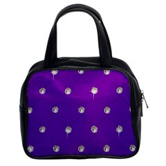 Royal Purple Sparkle Bling Twin Sided Satched Handbag