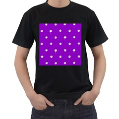 Royal Purple Sparkle Bling Black Mens'' T-shirt