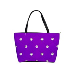 Royal Purple Sparkle Bling Large Shoulder Bag
