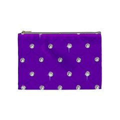 Royal Purple Sparkle Bling Medium Makeup Purse