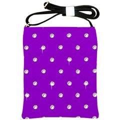Royal Purple Sparkle Bling Cross Shoulder Sling Bag