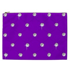 Royal Purple Sparkle Bling Cosmetic Bag (XXL)