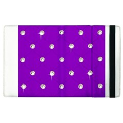 Royal Purple Sparkle Bling Apple iPad 2 Flip Case