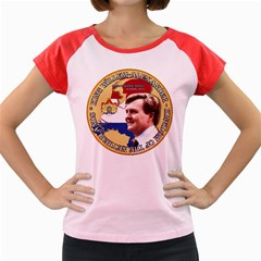 King Willem-Alexander Colored Cap Sleeve Raglan Womens  T-shirt