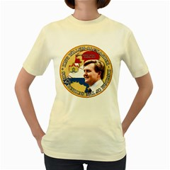 King Willem-Alexander Yellow Womens  T-shirt