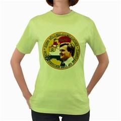 King Willem Alexander Green Womens  T Shirt