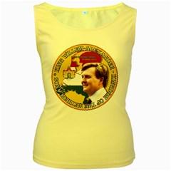 King Willem-Alexander Yellow Womens  Tank Top