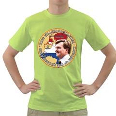 King Willem Alexander Green Mens  T Shirt