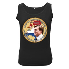 King Willem-Alexander Black Womens'' Tank Top