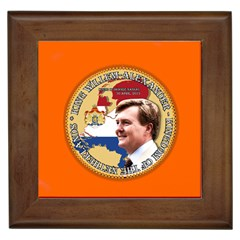 King Willem-Alexander Framed Ceramic Tile