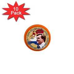 King Willem Alexander 10 Pack Mini Magnet (round)