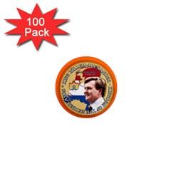 King Willem-Alexander 100 Pack Mini Magnet (Round)