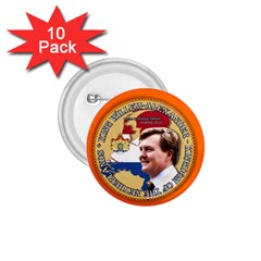 King Willem Alexander 10 Pack Small Button (round)